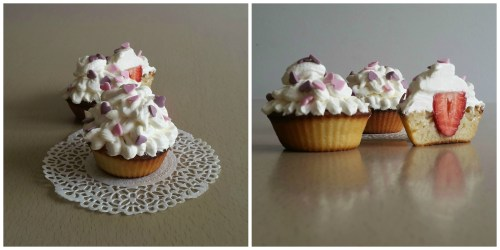 Strawberry Cheese Cake Cupcakes