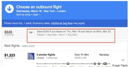 Google Flights Destinations
