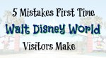 5 Mistakes First Time Walt Disney World Visitors Make