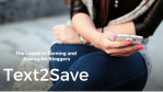Text2Save Is The Latest in Earning and Saving for Bloggers