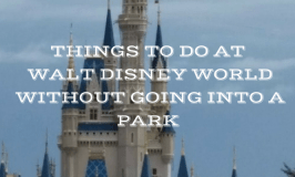 What To Do at WDW Without Going into a Park