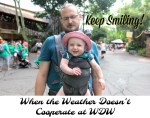 When the Weather Doesn't Cooperate at WDW ~ Keep Smiling!