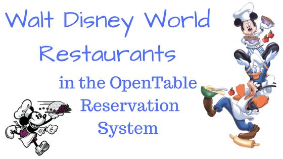Walt Disney World Restaurants In The OpenTable Reservation System - Open table reservation system