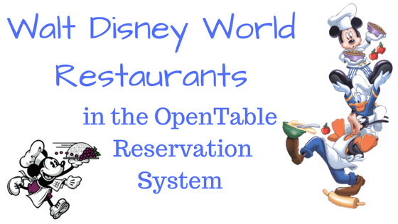 OpenTable Walt Disney World