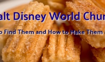 Walt Disney World Churros – Where to Find Them and How to Make Them at Home!