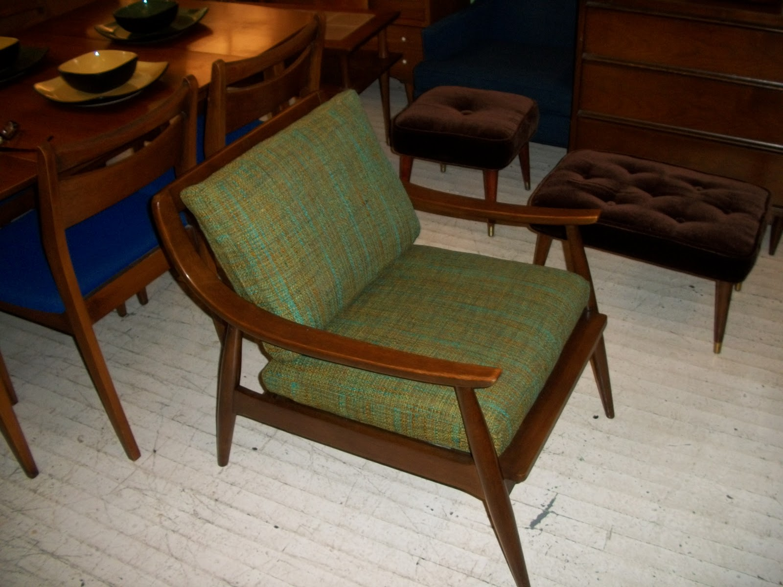 Mid Century Danish Chair Walnut Mid Century Modern Danish Lounge Chair An Orange