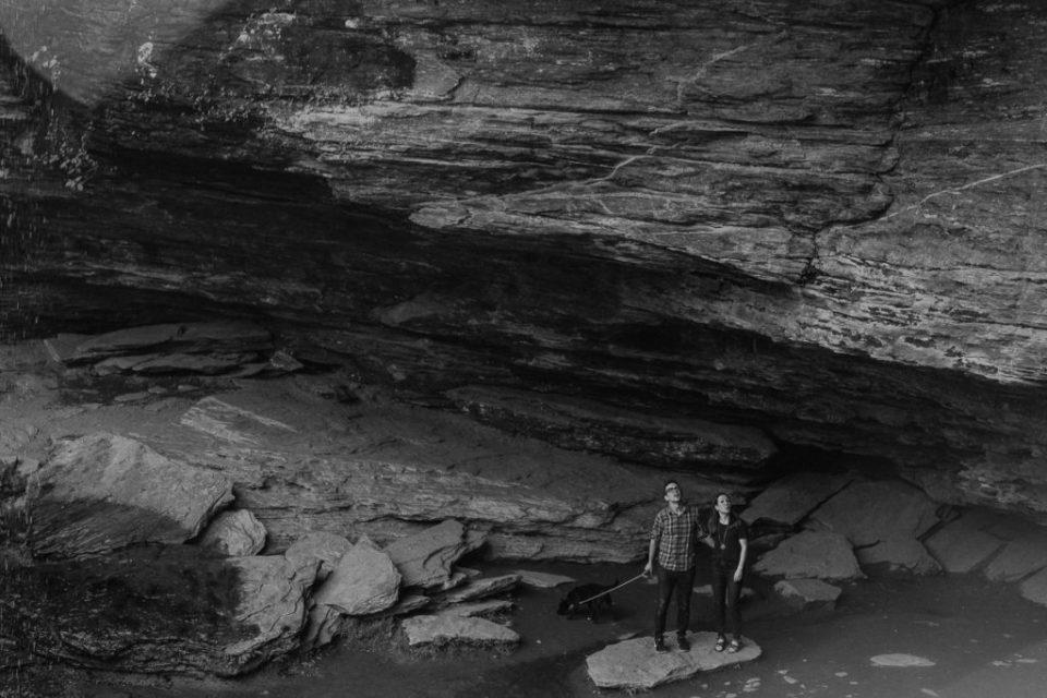 adventurous-asheville-engagement-photos-at-moores-cove-falls
