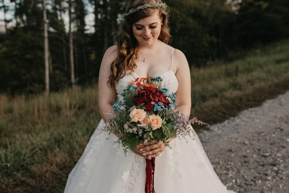 Close up photo of bride's bouquet.