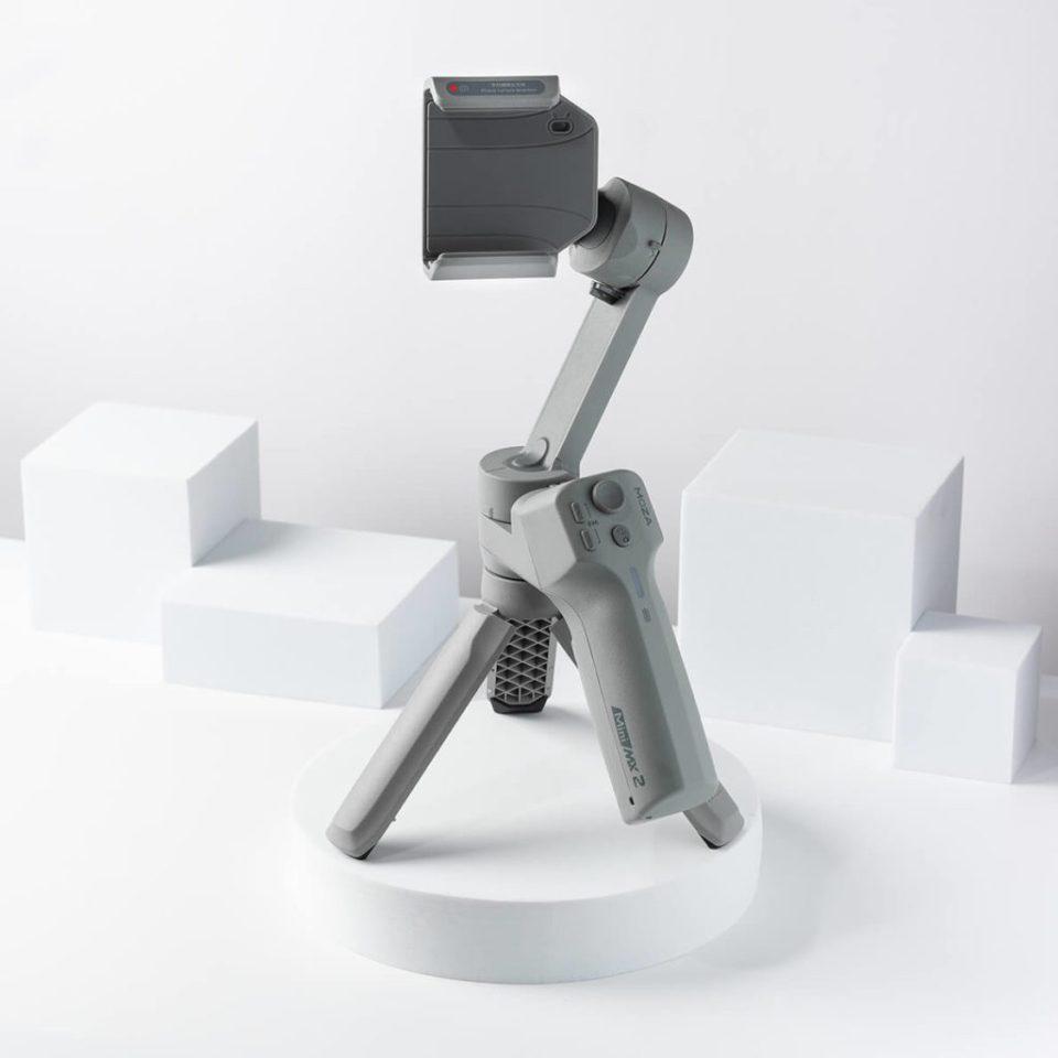 Product shot of the Moza Mini MX2 smartphone gimbal.