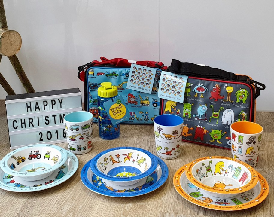 Lunch bags, plates, bowls, cups & drinks bottle