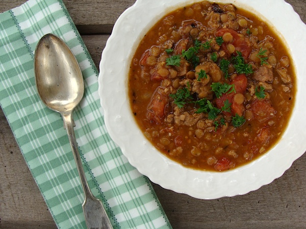 Amazing Lentil Sausage Stew - An Oregon Cottage