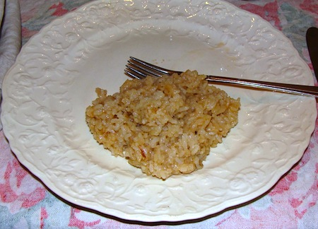 tasty rice on plate