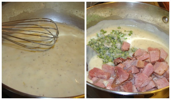 White Sauce & Filling for Cheesy Crust Ham Pie - An Oregon Cottage