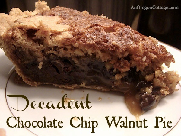 Chocolate Chip Walnut Pie :: AnOregonCottage