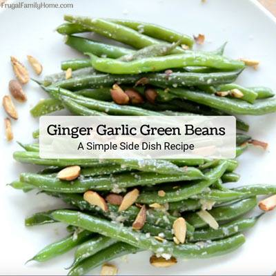 Ginger Garlic Green Beans at Frugal Family Home