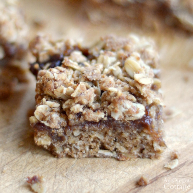 Healthy Whole Grain Apple Butter Bars