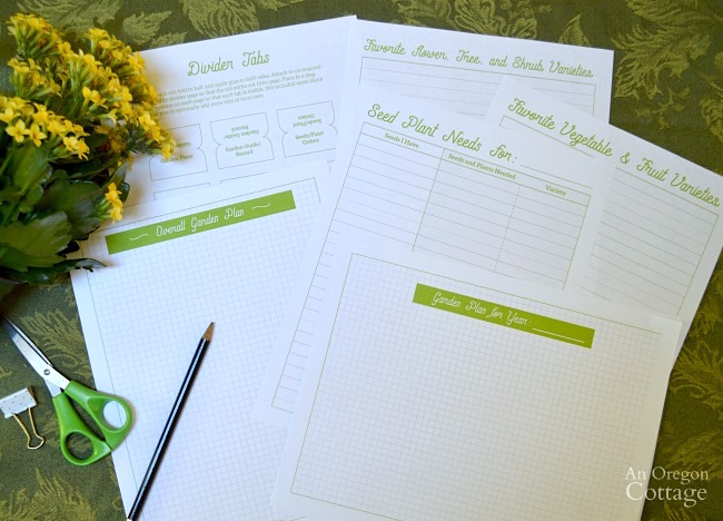 Organizing Garden Papers and garden plan for success free printable