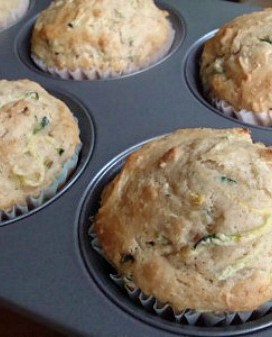 Zucchini Cinnamon Freezer Muffins
