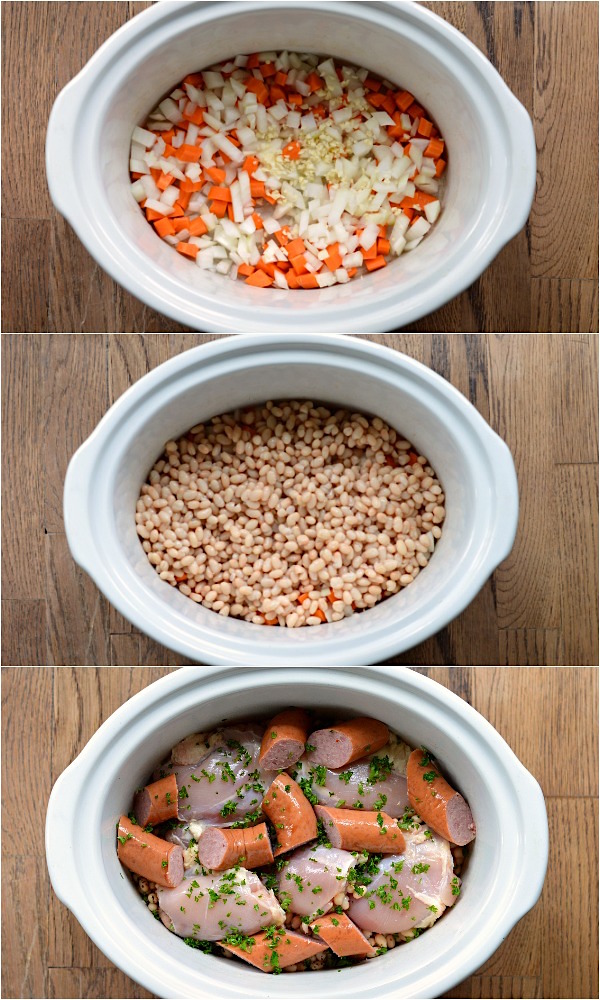 Making easy slow cooker cassoulet