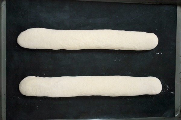 Easy French Baguettes before rising