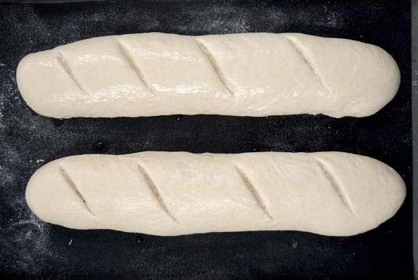 Easy French Baguettes ready for oven