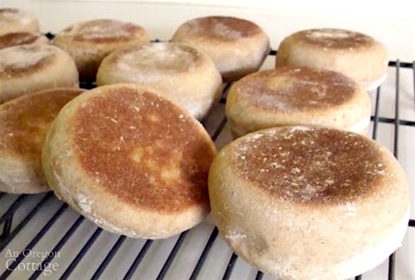 Easy Homemade Whole Wheat Sourdough English Muffins