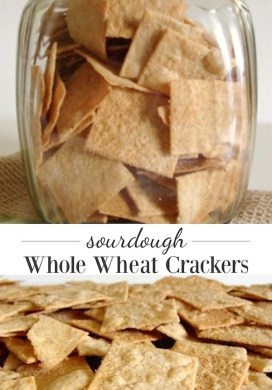 Sourdough Whole Wheat Crackers Recipe