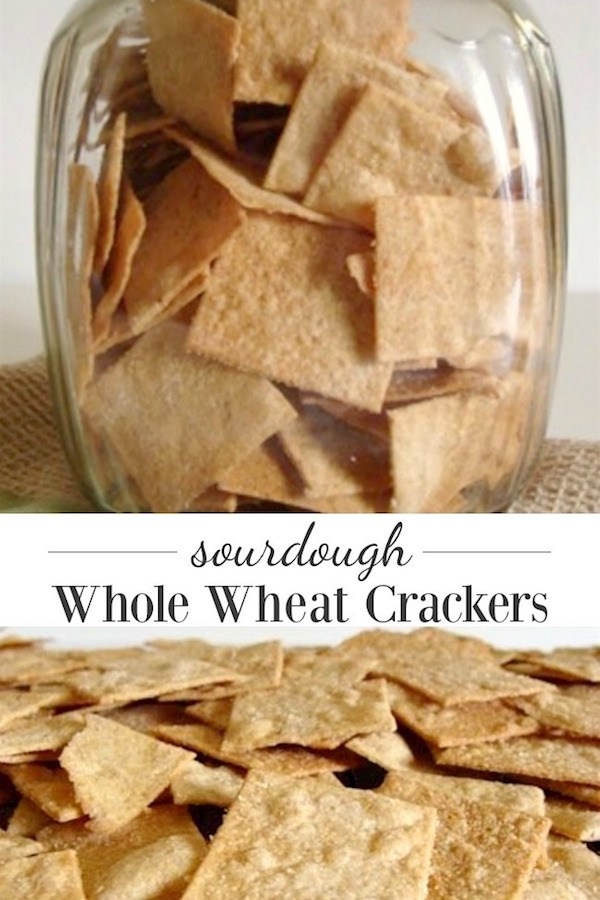 Surprisingly easy sourdough whole wheat crackers are SO worth it and great way to use extra starter.