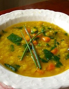 Fast and Easy Curried Red Lentil Soup