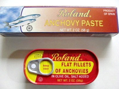 Anchovies for Caesar Dressing