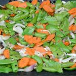 Easy Grilled Vegetables- a spring mixture of snap peas, carrots and onions