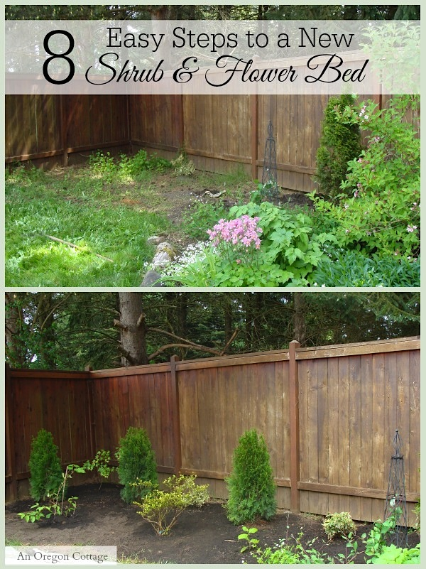 8 Easy Steps to a New Shrub and Flower Bed - An Oregon Cottage