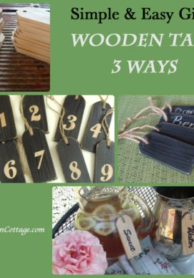 DIY Wood Tags Three Ways