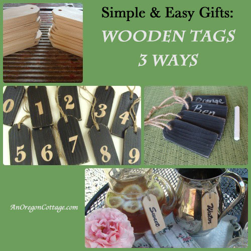 Make easy diy wooden tags (or buy them!) and then choose one of three ways to use them - as chalkboards, number tags, or beverage tags. They are awesome catalog knockoffs at a fraction of the price! An Oregon Cottage