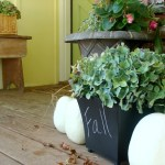 Fall Porch Decorating From The Garden