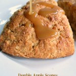 A fall favorite-Double Apple Scones with easy caramel glaze AnOregonCottage.com