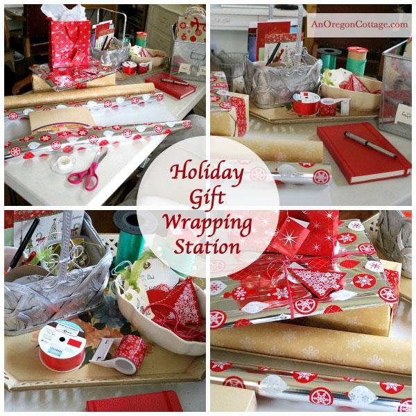 Gift Wrap Station - An Oregon Cottage