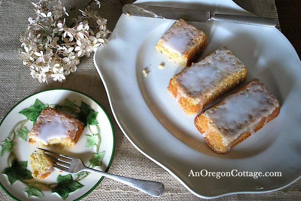 zucchini lemon bread on plates