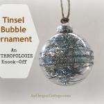 Glitter & Tinsel DIY Ornament {An Anthropologie Knock-Off}