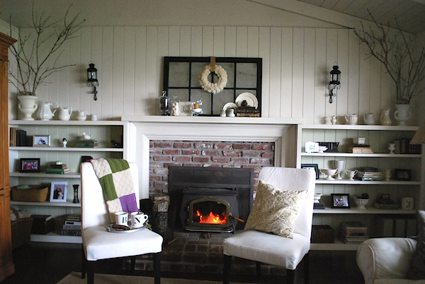 Winter Cottage Fireplace