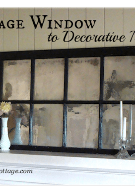 How To Turn a Vintage Window Into a Mirror