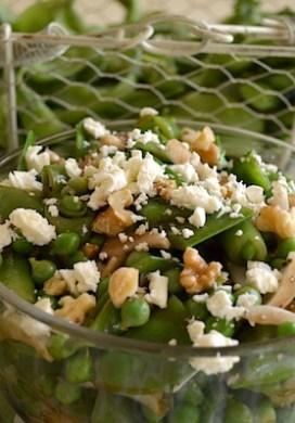 Three Pea Salad with Feta & Walnuts