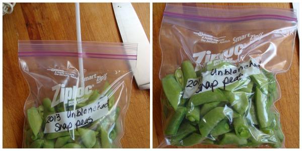 Straw Method for Freezing Peas| An Oregon Cottage