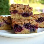 Whole Grain Blackberry Crumb Bars- SO good!