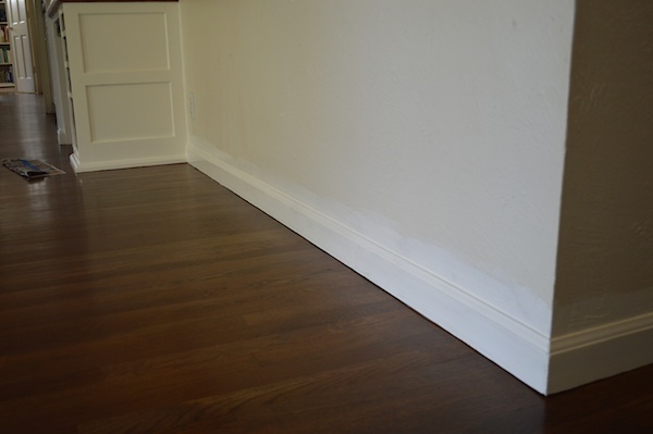 baseboard after paint