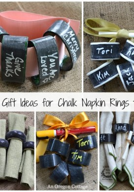 Thrifted Chalkboard Napkin Rings