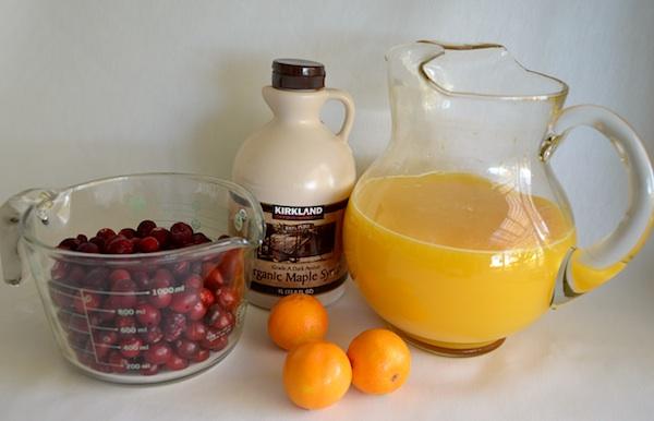 Maple-Orange Cranberry Sauce Ingredients