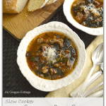 Slow Cooker Sausage-Bean Soup with Spinach and Tomatoes :: An Oregon Cottage