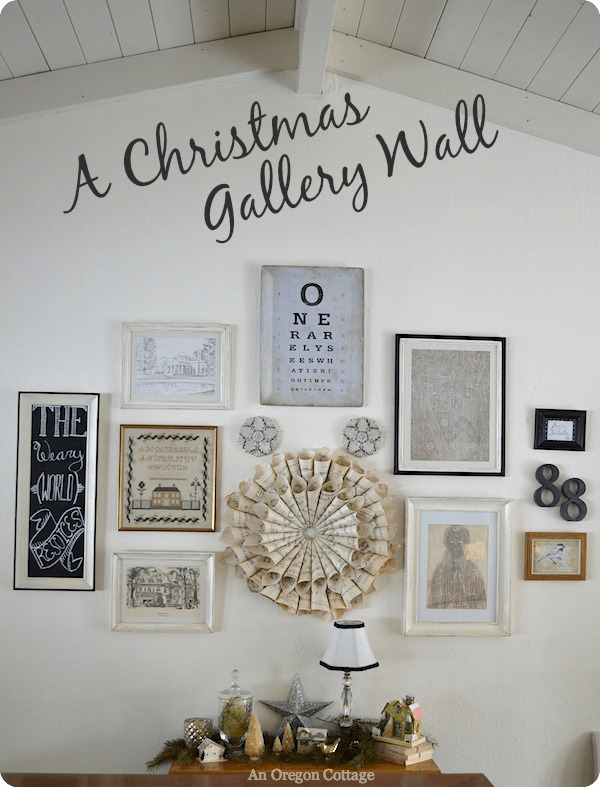 A Christmas Gallery Wall from An Oregon Cottage