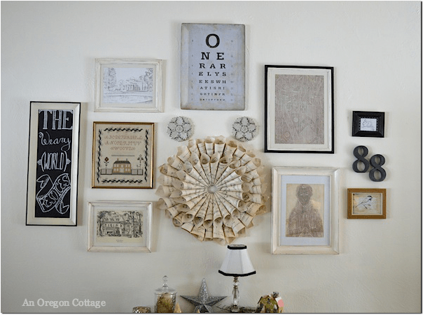 Christmas Gallery Wall - An Oregon Cottage